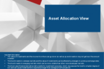 Asset Allocation View