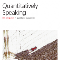 ESG integration in quantitative investments