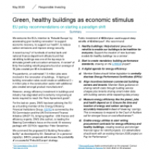 Green, healthy buildings as economic stimulus