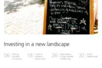 Investing in a new landscape