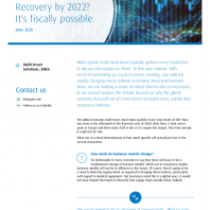 Recovery by 2022? It's fiscally possible