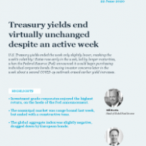 Treasury yields end virtually unchanged despite an active week