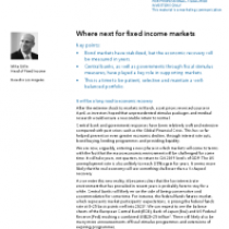 Where next for fixed income markets