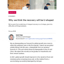 Why we think the recovery will be U-shaped