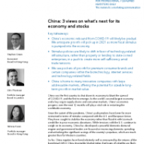China: 3 views on what's next for its economy and stocks