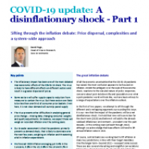 COVID-19 update: A disinflationary shock – Part 1