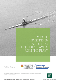 Do public equities have a role to play in impact investing?