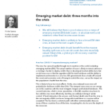 Emerging market debt: three months into the crisis