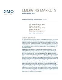 Emerging markets – Tamed Child O' Mine