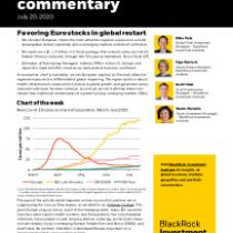 Favoring Euro stocks in global restart