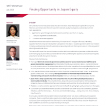 Finding Opportunity in Japan Equity