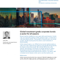 Global investment grade corporate bonds: a sector for all seasons