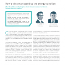 How a virus may speed up the energy transition