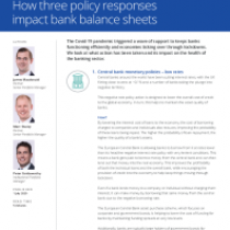 How three policy responses impact bank balance sheets