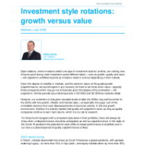 Investment style rotations: growth versus value