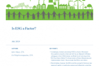Is ESG a Factor?
