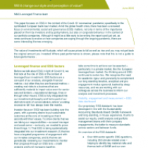 Leveraged loan investment and ESG in light of Covid-19