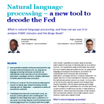Natural language processing – a new tool to decode the Fed