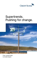 Supertrends. Pushing for change.