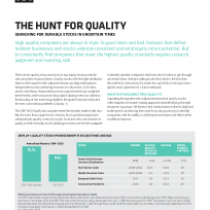 The hunt for quality