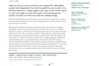 The Role Of Gold – A Less Than Perfect Inflation Hedge