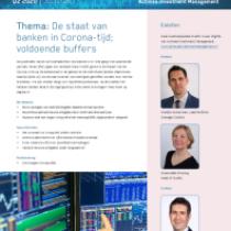 Thema: De staat van banken in Corona-tijd; voldoende buffers