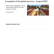 A snapshot of the global economy – August 2020