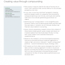 International equities: Creating value through compounding