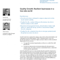 Quality Growth: Resilient businesses in a low-rate world