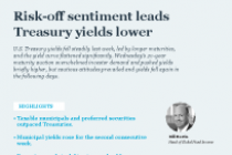Risk-off sentiment leads Treasury yields lower