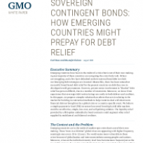 Sovereign Contingent Bonds: How Emerging Countries Might Prepay for Debt Relief