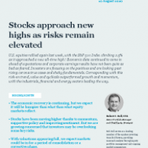 Stocks approach new highs as risks remain elevated