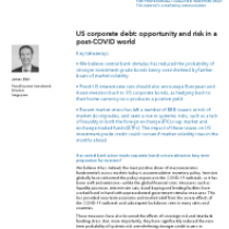 US corporate debt: opportunity and risk in a post-COVID world