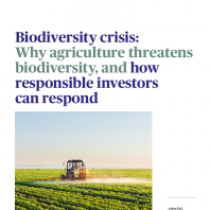 Biodiversity crisis: Why agriculture threatens biodiversity, and how responsible investors can respond