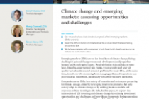 Climate change and emerging markets: assessing opportunities and challenges