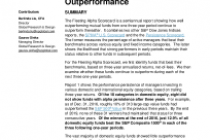Fleeting Alpha Scorecard: The Challenge of Consistent Outperformance