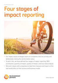 Four stages of impact reporting