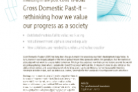 Gross Domestic Past-it – Rethinking how we value our progress as a society