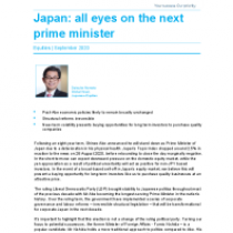 Japan: all eyes on the next prime minister