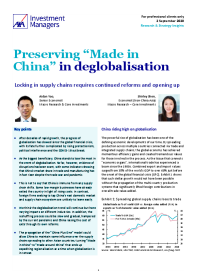 """Preserving """"Made in China"""" in deglobalisation"""