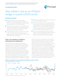 Real estate's role as an inflation hedge in a post-COVID world