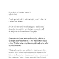 Strategic credit: a nimble approach for an uncertain world