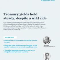 Treasury yields hold steady, despite a wild ride