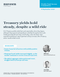 Treasury yields hold steady, despite a wild ride