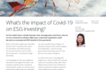 What's the impact of Covid-19 on ESG investing?