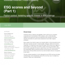 ESG scores and beyond (Part 1)