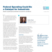 Federal Spending Could Be a Catalyst for Industrials