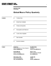 Global Macro Policy Quarterly