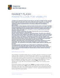 Markets Look for Visibility