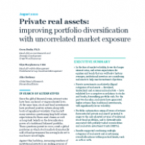 Private real assets: improving portfolio diversification with uncorrelated market exposure